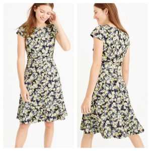 NWOT J. Crew Cap Sleeve Dress - Floral Clover